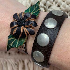 Jewelry - 2 Leather Boho Bracelets